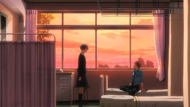 A dramatic evening scene in the school infirmary between Kashima and Hori