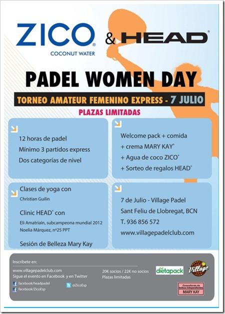 La firma HEAD y la bebida ZICO promueven su primer PADEL WOMEN DAY en Barcelona.