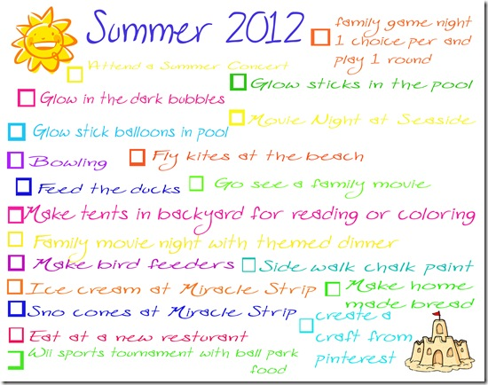 summer bucket list copy