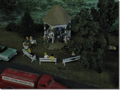 IMG_5542 Gazebo & Band on the Lewis County Model Railroad Club's HO-Scale Layout at the WGH Show in Portland, OR on February 18, 2007
