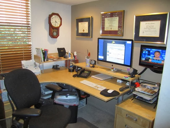 Ikea-Computer-desk-galant-corner-desk