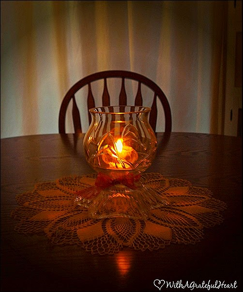 Table Candle After Dark