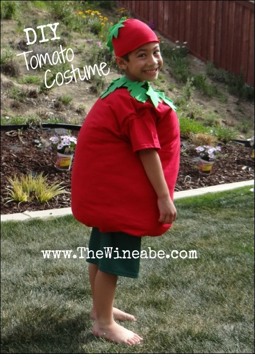 DIY tomato costume