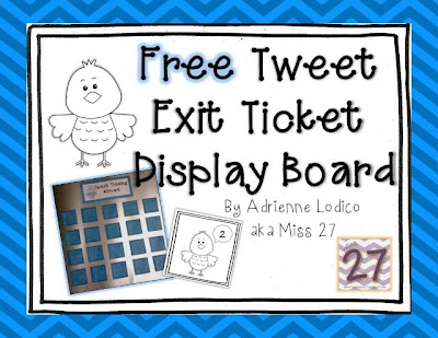 what happens in 27 free twitter style exit ticket display board