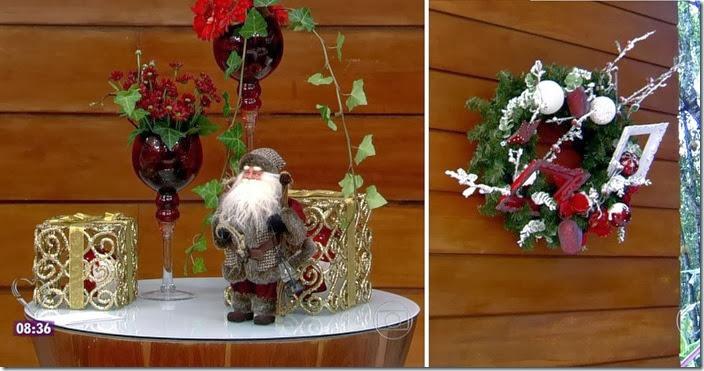 moda do programa mais você - decoração de natal 2013 e