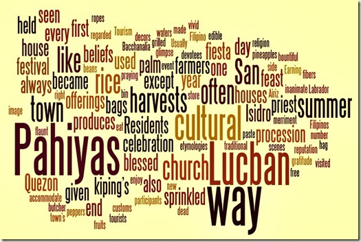 Pahiyas word cloud