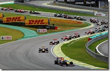 La partenza del gran premio del Brasile 2011