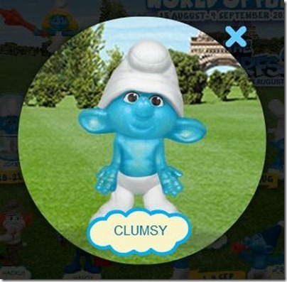 Smurf 2 X Happy Meal - Clumsy Smurf