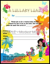 LULLABY LUAU invite