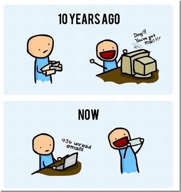 Recebendo uma carta à 10 anos atrás e hoje em dia