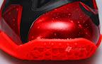 nike lebron 11 gr black red 2 14 New Photos // Nike LeBron XI Miami Heat (616175 001)