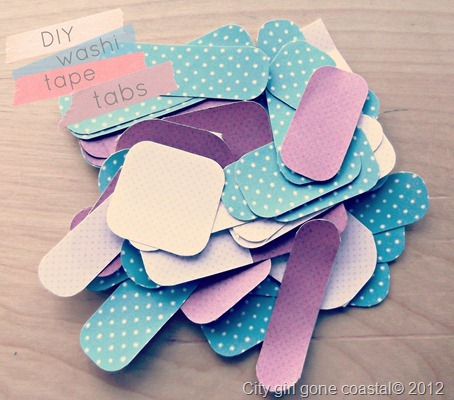 diy washi tape tabs