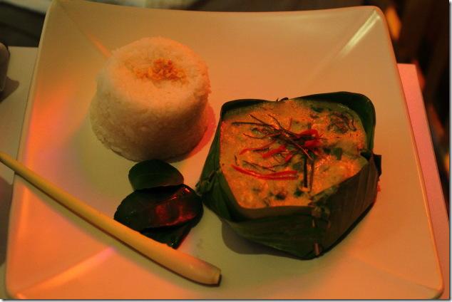Very well prepared Amok Fish at Blue Pumpkin, Phnom Penh