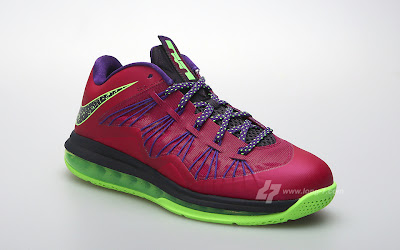 nike lebron 10 low gr purple neon green 3 08 Nike Air Max LeBron X Low Raspberry Official Release Date