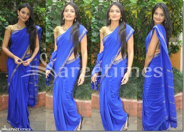 Nikitha_Narayan_Blue_Sari