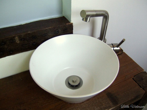 Serving bowl to vessel sink | Little Victorian