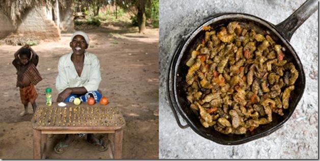 Regina Lifumbo, 53 years old, Mchinji, Malawi. Finkubala, Caterpillar in tomato sauce