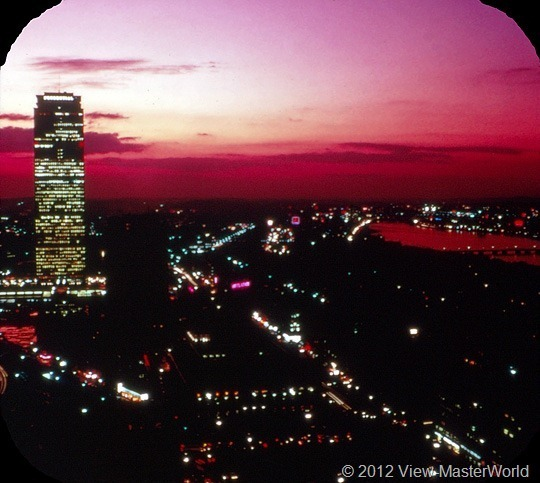 View-Master Boston (A726), Scene 11: John Hancock Building at Night