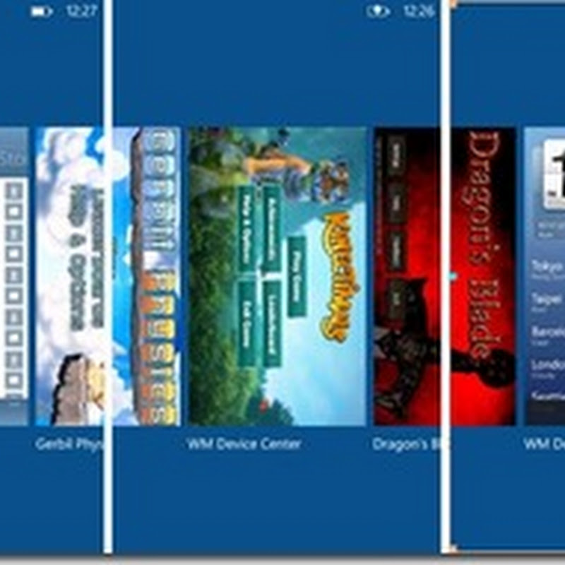 Windows Phone Tango con 8 aplicaciones en multitarea