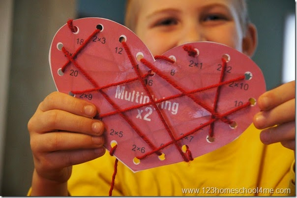 valentines day multiplication activity