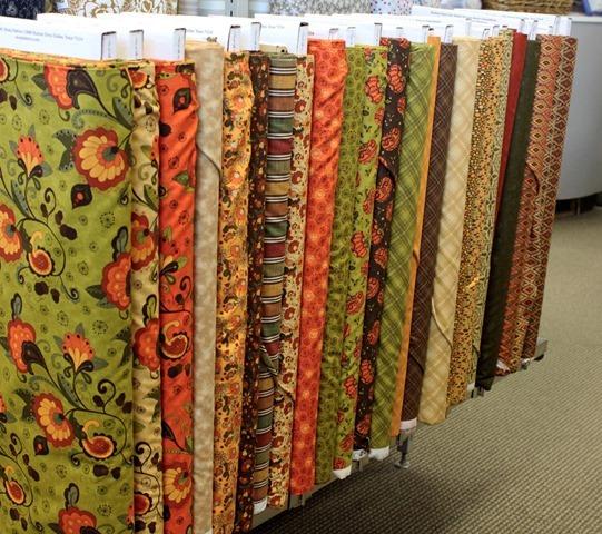 Posh Pumpkins fabric from Moda
