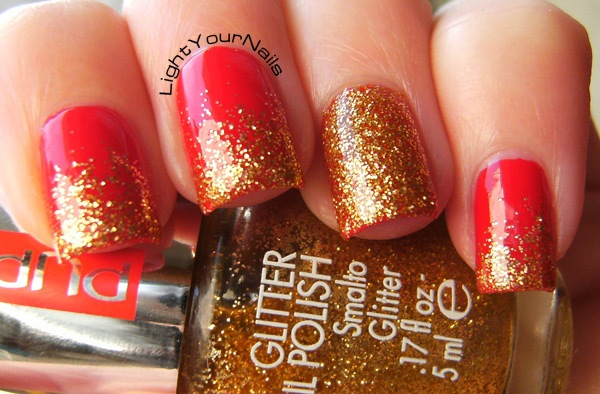 Christmas glitter gradient