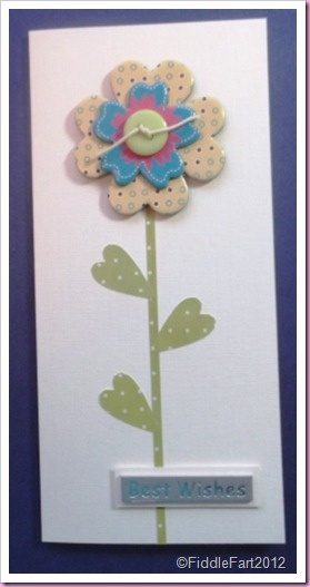 Button Flower Card embellishments from the Range