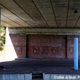 Lichtzuilen viaduct van N366 vernield - Foto's Johan de Groot