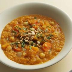 Squash Chickpea Lentil Stew