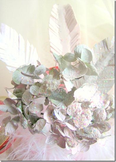 hydrangeas feathers