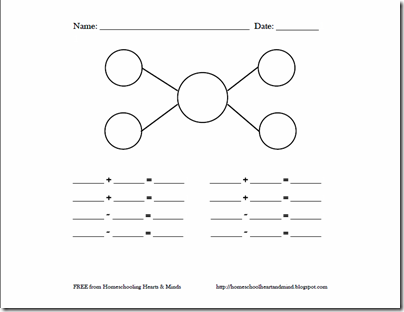 number bond worksheet