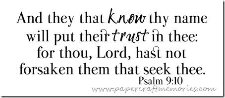 Psalm 9:10