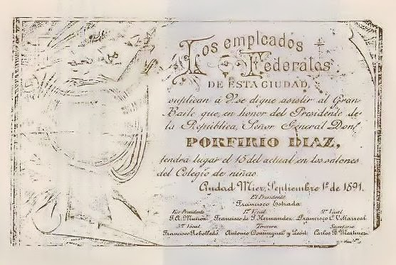 Mier Invitation Porfirio Diaz.JPG