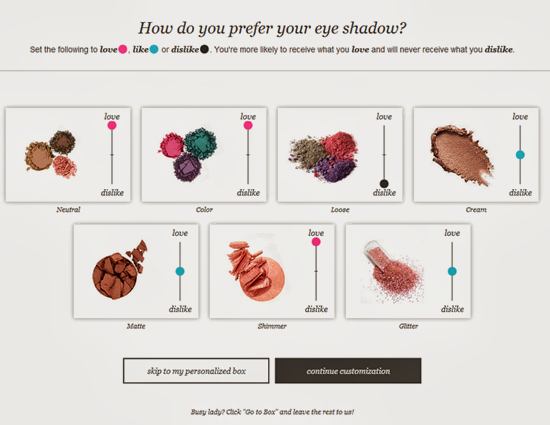 Wantable Eye Shadow Preferences