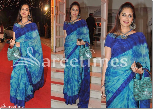 Blue_Printed_Georgette_Saree