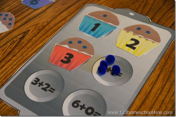 Addition Math Game for Preschool Kindergarten 1st grade