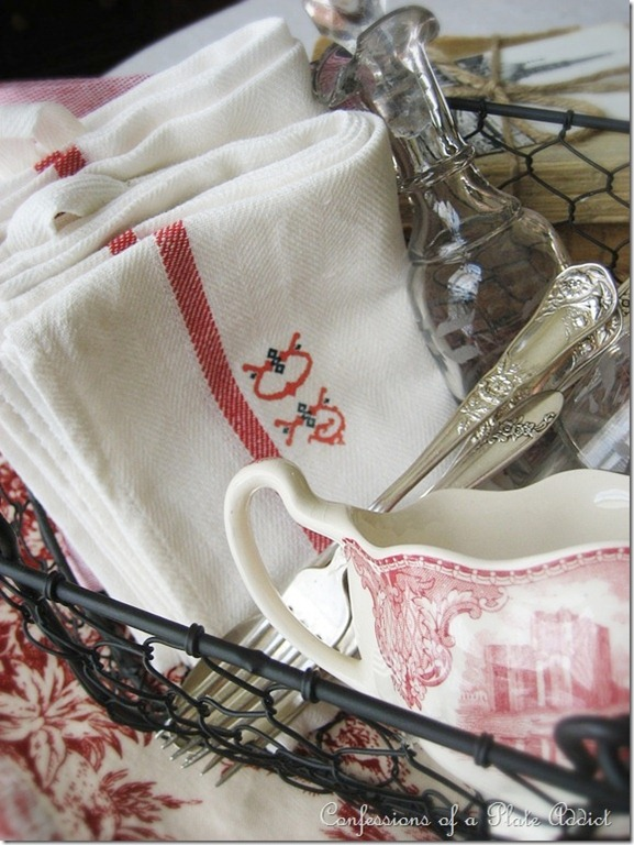 CONFESSIONS OF A PLATE ADDICT Make Your Own Vintage French Table Linens