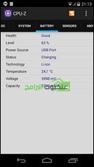 تطبيق CPU-Z يمكنك من معرفة حالة البطارية وسعتها
