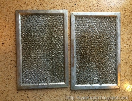 cleaning microwave filters