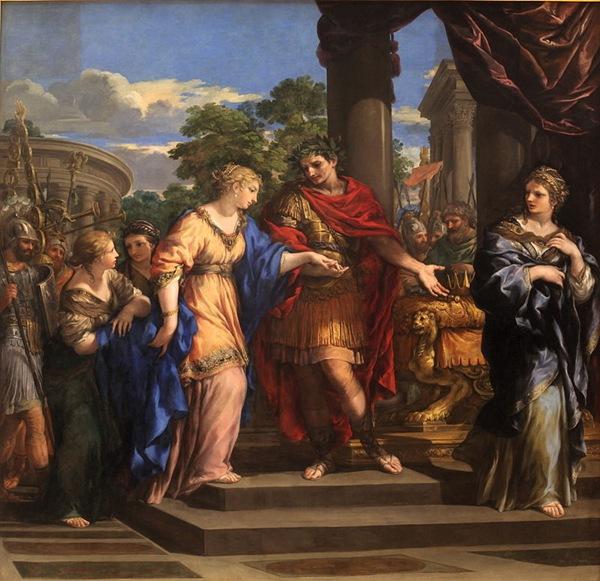 César dá o trono do Egito à Cleópatra