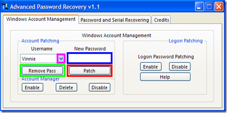 Windows Account Management