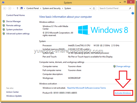 cara aktivasi windows 8 enterprise evaluation selamanya