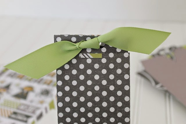 make a box from scrapbook paper