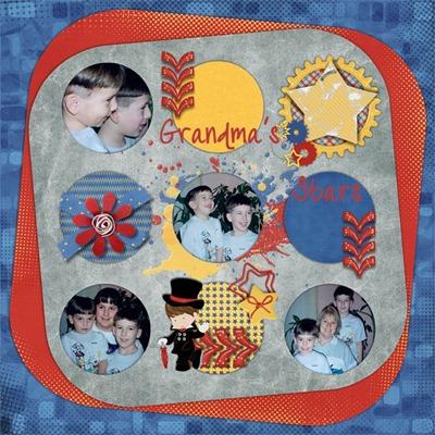 Mommy Me Time Scrapper - Be a Star Boy - Grandmas Stars
