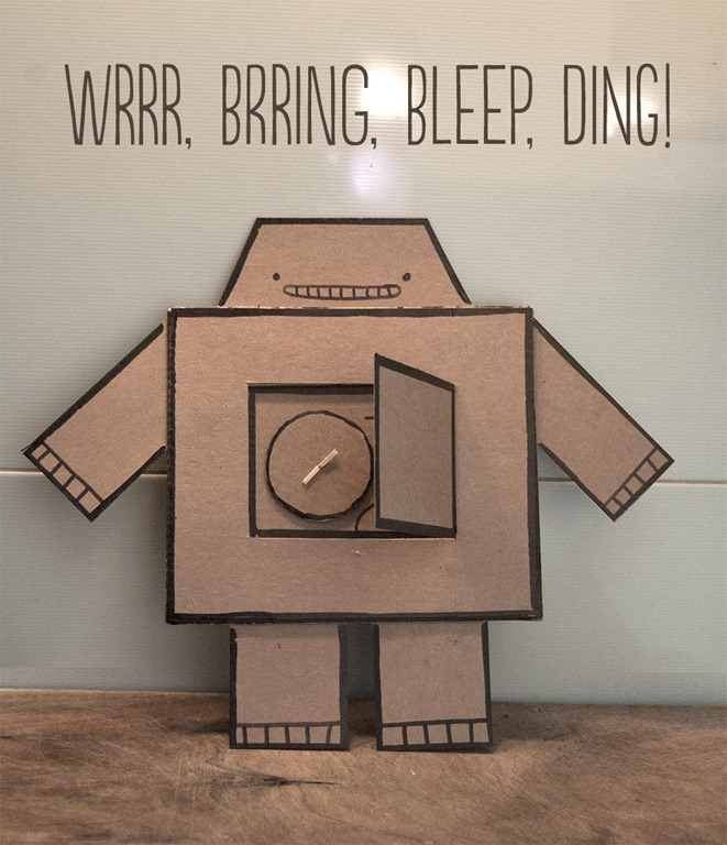 cardboard robot kids craft