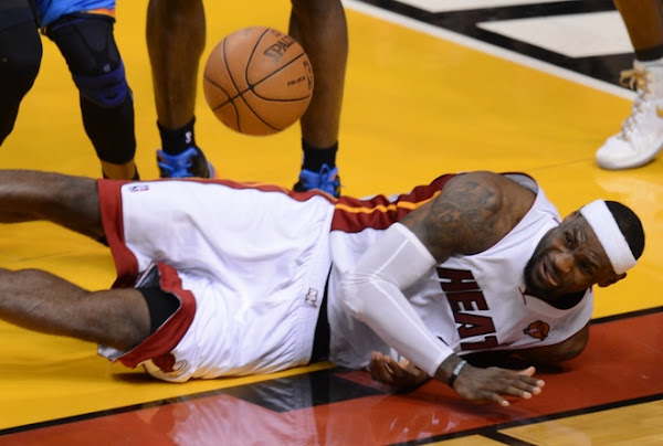 LeBron Leaves Game 4 on Fumes Leads Miami to Third Finals Win