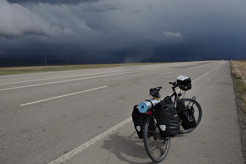 Heading towards the stormy border of Iran.