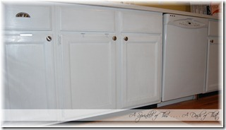 kitchen cabinets with handles {A Sprinkle of This . . . . A Dash of That}