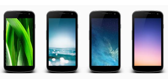 خلفيات نظام أبل الجديد iOS7 للأندرويد