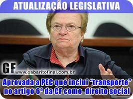 PEC TRANSPORTE DIREITO SOCIAL